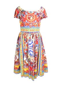 Dolce&Gabbana short dress Multicolor Ss16 D&g Cotton Roman on Tradesy