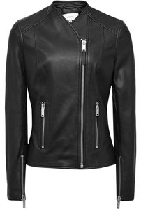 Reiss Leather Lambskin Leather Jacket