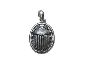 David Yurman Petrvs Scarab Amulet Pendant with chain