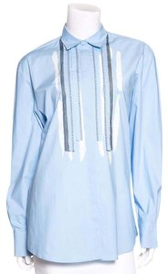 Bottega Veneta Button Down Shirt Light Blue