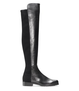 Stuart Weitzman Over The Knee Flat 5050 Thigh High Black Boots