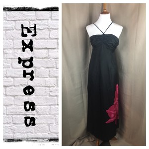 Black/Hot Pink Maxi Dress by Express