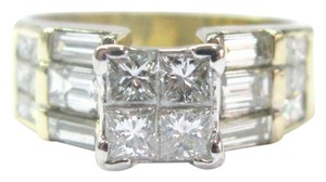 Other Fine Multi Shape Diamond Jewelry Ring Yellow Gold 2.10CT