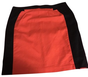 Worthington Skirt orange and navy