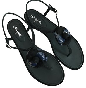 Chanel Black/Navy Sandals