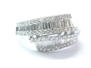Other Fine Round & Baguette Diamond ByPass White Gold Jewelry Ring 14Kt 1.86