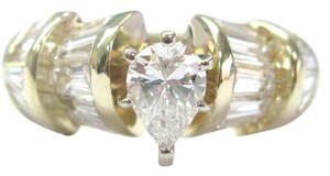 Other Fine Pear Shape & Baguette Diamond Engagement Jewelry Ring YG 1.70CT