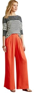 Anthropologie Wide Leg Pants Coral