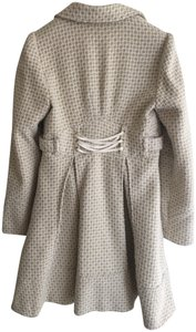 XOXO Trench Skirted Button-up Pockets Pea Coat