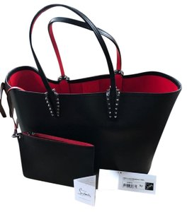 Christian Louboutin Louboutin Louboution Cabata Shopping Studded Tote in Black