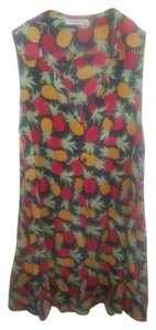 Equipment short dress Navy with red and yellow pineapples on Tradesy