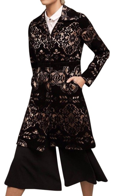 Item - Black Laced Velvet 0 From Plenty By Tracy Reese Coat Size 0 (XS)