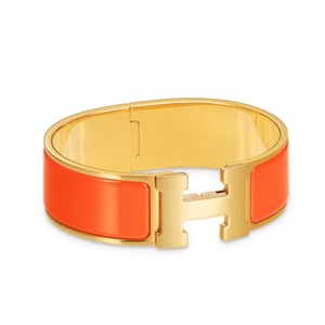 Hermès Clic Clac New! Orange & Gold