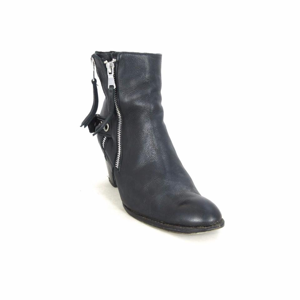 Modern Vice Roma Black Leather Roma Vice Moto Ankle Boots/Booties aabf36