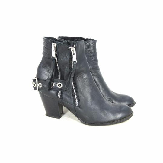 Modern Vice Leather Moto Black Boots