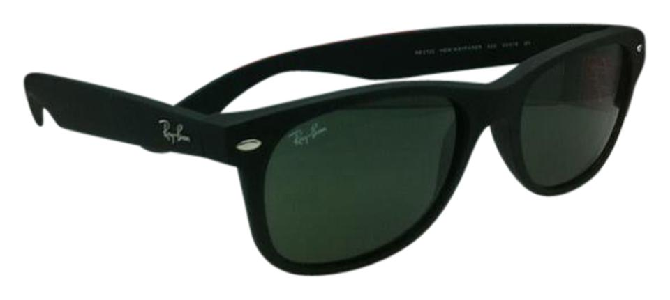f547348864 Ray-Ban Rb 2132 New Wayfarer 622 58-18 Black Rubber W G15 Lenses W ...