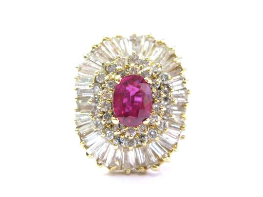 Other 14Kt Gem AAA Ruby Diamond Ballerina Yellow Gold Ring 3.24Ct Image 0