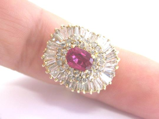 Other 14Kt Gem AAA Ruby Diamond Ballerina Yellow Gold Ring 3.24Ct Image 2