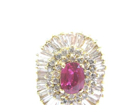 Other 14Kt Gem AAA Ruby Diamond Ballerina Yellow Gold Ring 3.24Ct Image 4