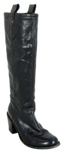 Fiorentini + Baker Leather Mid Calf Black Boots