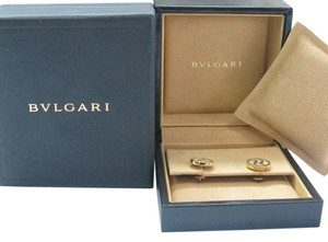 BVLGARI BVLGARI 18Kt Mother of Pearl Optical Stud Earrings Yellow Gold 13mm