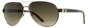Gucci NEW Gucci GG 4239/S Gold Polarized White Aviator Sunglasses