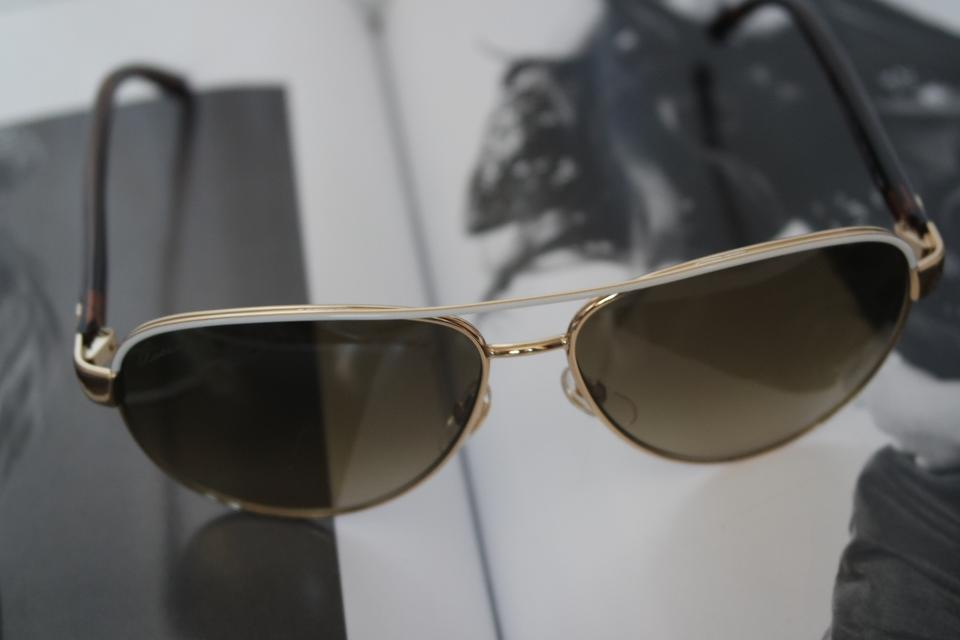 660c74573bb Gucci NEW Gucci GG 4239 S Gold Polarized White Aviator Sunglasses Image 8.  123456789. 1 ∕ 9