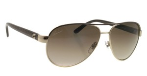 Gucci NEW Gucci GG4239/S Gold Metal Brown Aviator Sunglasses