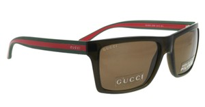 Gucci NEW Gucci GG 1013/S Brown Logo Stripe Leg Sunglasses