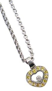 Chopard Chopard 18Kt Heart Pendant W 1 Floating Diamonds Sapphire White Gold N