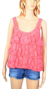 Aéropostale Lace Floral Layered Lace Top Pink
