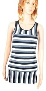Speechless Long Stripes Top Black And White