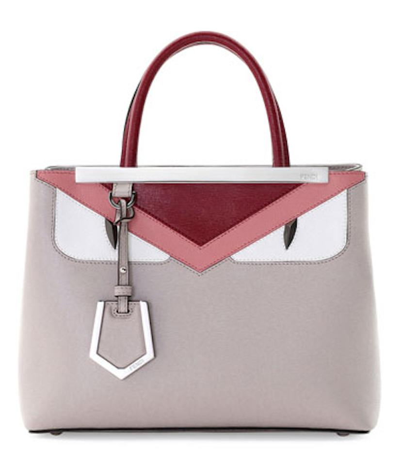 7aab3d6b18 Fendi New 2jours Petite Monster Taupe Leather Satchel - Tradesy