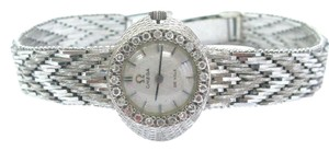Omega 18Kt Omega De Ville Diamond White Gold Watch .24Ct 6