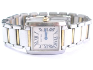 Cartier Ladies Cartier Tank Francaise 2384 18k Gold and Stainless Steal Two-To