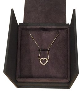 David Yurman cable Collectibles Heart Station Necklace w/ Diamonds