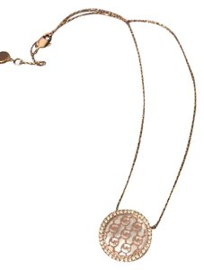 Michael Kors Michael Kors Rose Gold Logo Pave Necklace
