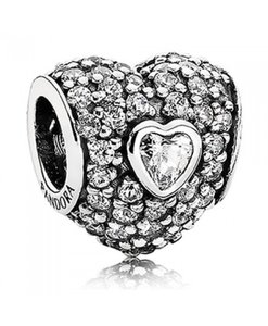 PANDORA In My Heart Charm 791168CZ