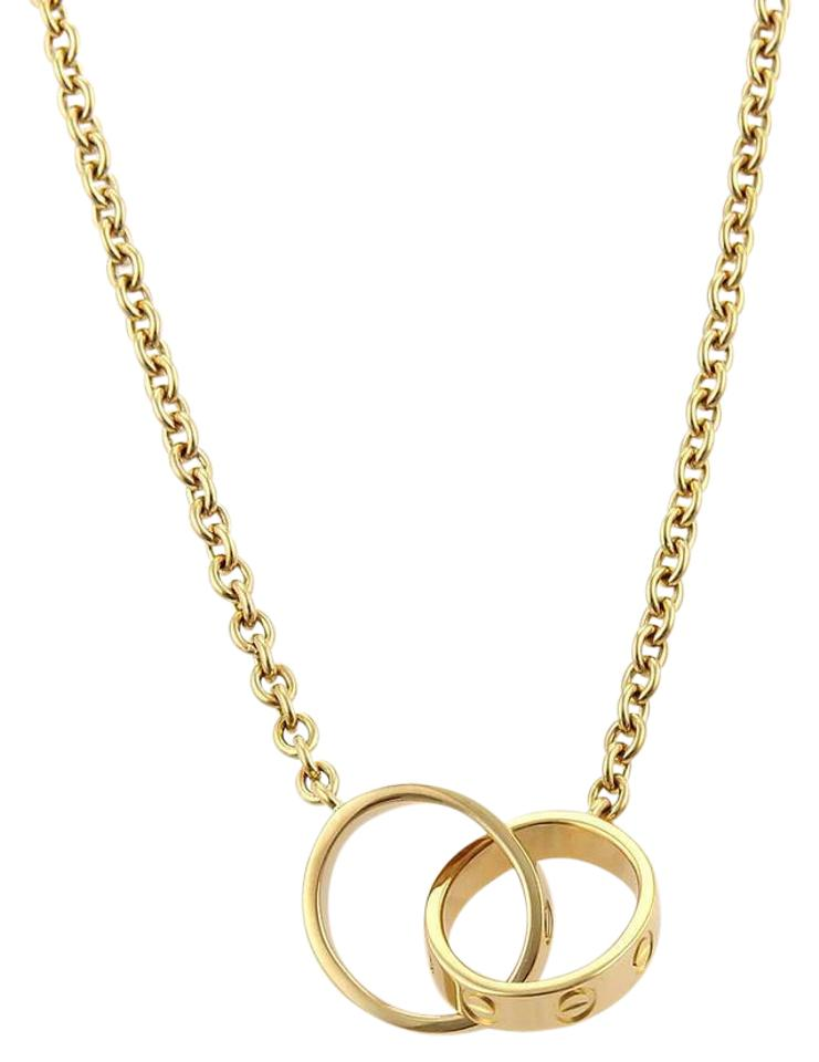 Cartier yellow gold love double infinity mini ring pendant 18k cartier cartier love double infinity mini ring pendant 18k ygold necklace aloadofball Image collections