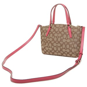 Coach Strawberry Brown Small Gold Cross Body Bag