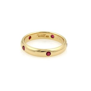 Cartier Cartier STELLA Ruby 18k Yellow Gold Band Ring Size EU 56-US 7.75 Paper