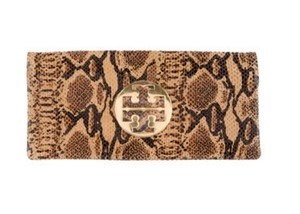 Tory Burch Gold/Brown/Black Clutch