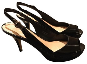 Via Spiga Black patent Platforms