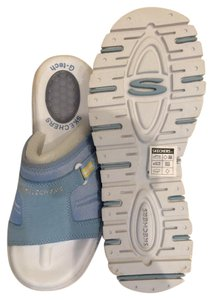 Skechers Slip-on Comfortable Light Blue Sandals
