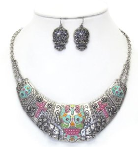 Other Sugar skull necklace set - 18 inches in length