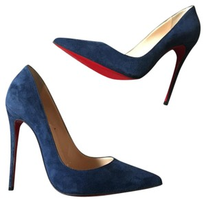 Christian Louboutin navy suede Pumps