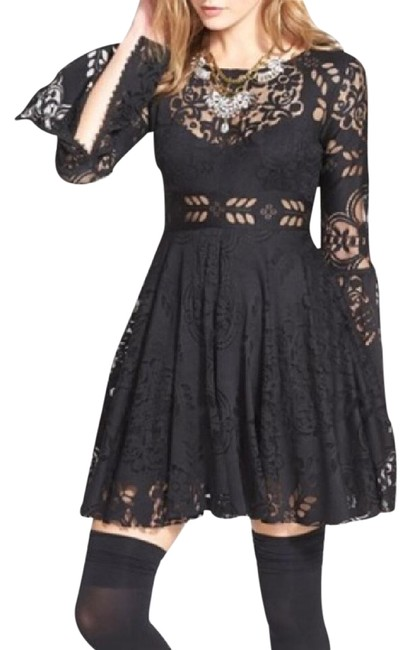 Item - Black Lace Lovers Short Formal Dress Size 6 (S)