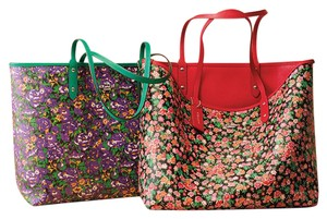 Coach Tote in Red/Floral