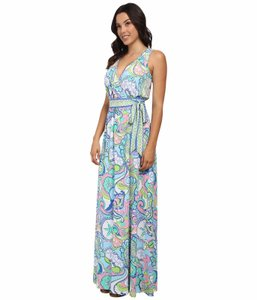 Multi-color Maxi Dress by Lilly Pulitzer Bellina Maxi Wrap