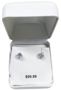 Other Special! New Solid 10K White Gold Simulated Diamond 10KT Gold Earrings